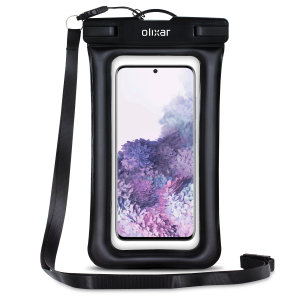 The Olixar Action Universal Waterproof Case for Samsung Galaxy S20 is a protective case providing 100% smartphone waterproofing and touchscreen operation up to a size of 6.8 inches for activities that require near water or even underwater adventures.