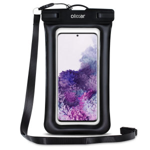 The Olixar Action Universal Waterproof Case for Samsung S20 Plus is a protective case providing 100% smartphone waterproofing and touchscreen operation up to a size of 6.8 inches for activities that require near water or even underwater adventures.