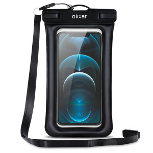 The Olixar Action Waterproof Case for iPhone 12 Pro Max is a protective case providing 100% smartphone waterproofing and touchscreen operation up to a size of 6.8 inches for activities that require near water or even underwater adventures.