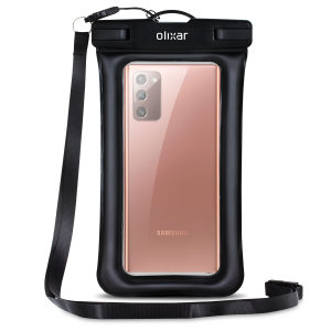 The Olixar Action Waterproof Case for Samsung Galaxy Note 20 is a protective case providing 100% smartphone waterproofing and touchscreen operation up to a size of 6.8 inches for activities that require near water or even underwater adventures.