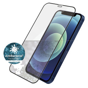 Introducing the premium range iPhone 12 PanzerGlass glass screen protector in black. Designed to be shock & scratch resistant, offering the ultimate protection. This screen protector is case friendly, allows fingerprint reading & is anti-blue light.