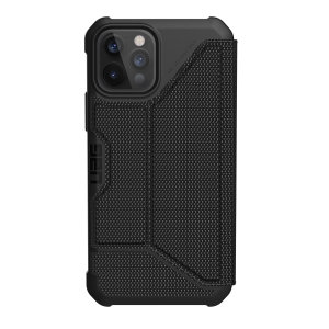 Equip your iPhone 12 Pro with extreme, military-grade protection and storage for cards with the Metropolis Rugged Wallet case in black from UAG. Impact and water resistant this is the ideal way of protecting your phone and providing card storage.