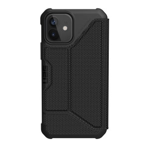 UAG Metropolis iPhone 12 Tough Wallet Case - Kevlar Black
