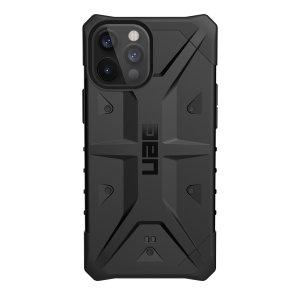 The UAG Pathfinder Case in Black for the iPhone 12 Pro features a classic tough-looking, composite design with a soft impact-absorbing core and hard exterior that provides superb protection in all situations.