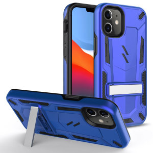 Protect your iPhone 12 mini from bumps and scrapes with this blue/black Zizo Transform case. Comprised of an inner TPU case and an outer impact-resistant shell, the Zizo Hybrid Transformer Case offers a sturdy and robust protection for your phone.