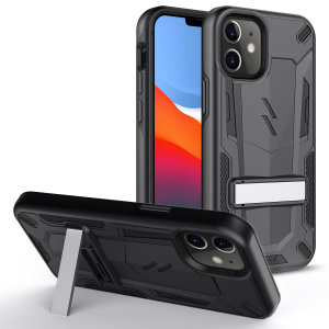 Protect your iPhone 12 mini from bumps and scrapes with this black Zizo Transform case. Comprised of an inner TPU case and an outer impact-resistant shell, the Zizo Hybrid Transformer Case offers a sturdy and robust protection for your phone.