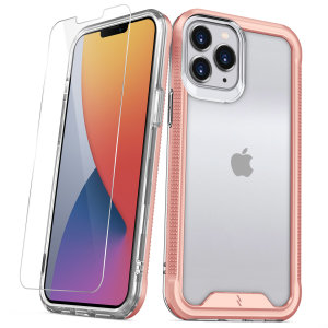 Zizo Ion Series iPhone 12 Pro Max Protective Clear Case - Rose Gold