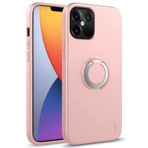 Zizo Revolve Series iPhone 12 Pro Max Thin Ring Case - Rose Quartz