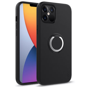 The Zizo revolve case in black brings style & function together into a slim design whilst full protecting your iPhone 12 Pro Max from accidental drops. The ring at the back doubles as a kickstand to watch your favourite series conveniently.