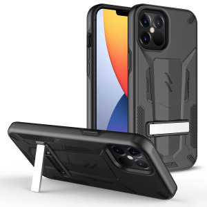 Protect your iPhone 12 Pro Max from bumps and scrapes with this black Zizo Transform case. Comprised of an inner TPU case and an outer impact-resistant shell, the Zizo Hybrid Transformer Case offers a sturdy and robust protection for your phone.