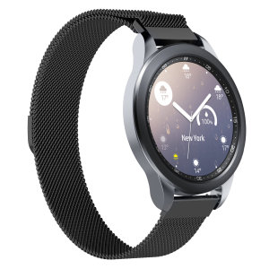 Treat your brand new Samsung Smart Watch to the ultra-high quality Milanese Black strap from Olixar.  Comfortable, durable and stylish, this strap is the perfect way to personalise your Samsung Watch. Strap is 20mm which is a Small/Medium.