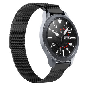 Treat your brand new Samsung Watch to the ultra-high quality Milanese strap from Olixar in black. Comfortable, durable and stylish, this strap is the perfect way to personalise your Samsung Smart Watch. Strap is 22mm which is a Medium / Large.
