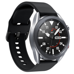Treat your brand new Samsung Watch to the ultra-high quality soft silicone strap from Olixar in black. Comfortable, durable and stylish, this strap is the perfect way to personalise your Samsung Watch. Strap is 22mm which is a Large/Medium.