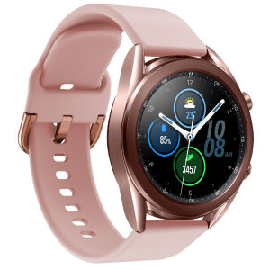 Olixar Soft Silicone Samsung Watch 22mm Strap - Rose Gold