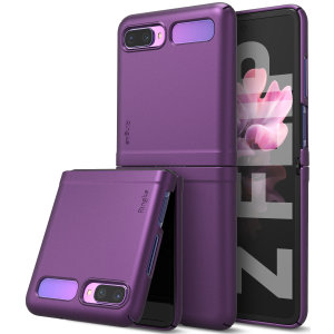 The slim, hardened construction makes the Slim Case in Purple from Ringke for the Samsung Galaxy Z Flip 5G one of the slimmest yet most protective case in its class. The Slim series Case has the style you want with the protection your Z Flip 5G needs.