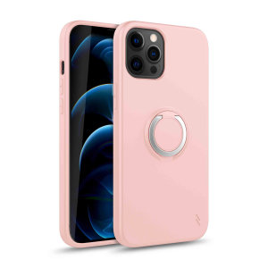 The Zizo revolve case in rose quartz brings style & function together into a slim design whilst full protecting your iPhone 12 Pro from accidental drops. The ring at the back doubles as a kickstand to watch your favourite series conveniently.