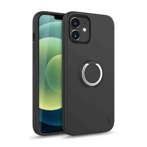Zizo Revolve Series iPhone 12 Thin Ring Case - Magnetic Black