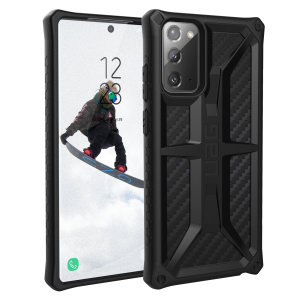 The Urban Armour Gear Monarch in Carbon Fiber for the Samsung Galaxy Note 20 5G is quite possibly the king of protective cases. With 5 layers of premium protection and the finest materials, your Galaxy Note 20 5G is safe, secure and in some style too.
