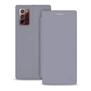 Olixar Soft Silicone Samsung Galaxy Note 20 5G Wallet Case - Grey