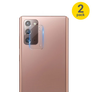 This 2 pack of ultra-thin rear camera protectors for the Samsung Galaxy Note 20 5G from Olixar offers toughness and superb clarity for your photography all in one package.