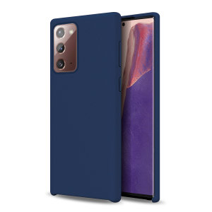 Custom moulded for the Samsung Galaxy Note 20 5G, this midnight blue soft silicone case from Olixar provides excellent protection against damage as well as a slimline fit for added convenience.