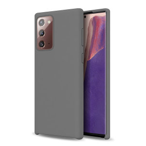 Custom moulded for the Samsung Galaxy Note 20 5G, this grey soft silicone case from Olixar provides excellent protection against damage as well as a slimline fit for added convenience.