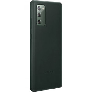 This Official Samsung Leather Cover in Green is the perfect way to keep your Galaxy Note 20 5G smartphone protected whilst keeping a stylish and sophisticated look. This leather case protects against scratches and bumps while being lightweight.