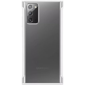 This official Samsung clear protective case in white is designed and military-grade certified to provide premium protection for your Samsung Galaxy Note 20 5G.