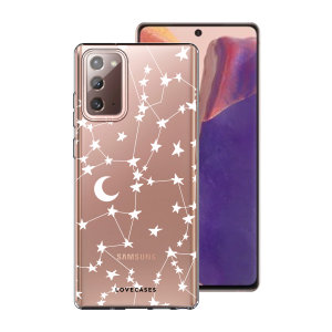 Take your Samsung Galaxy Note 20 5G to the next level with this starry design print phone case in white from LoveCases. Cute but protective, the ultra-thin case provides slim fitting and durable protection against life's little accidents.