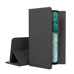 A sophisticated lightweight black leather-style case with a magnetic fastener for ease of use. The leather-style wallet case offers perfect protection for your Oppo Find X2 Lite and also includes a built-in stand.