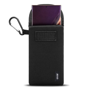 Designed to provide shock and drop protection for your Samsung Galaxy Note 20 Ultra 4G / 5G, the lightweight Olixar Neoprene case is perfect whilst your exercising or travelling. The included carabiner is great for portability and accessibility.