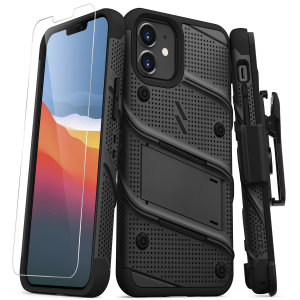 Zizo Bolt Series iPhone 12 Tough Case - Black