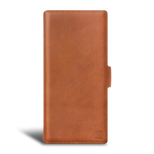 Olixar Genuine Leather Samsung Galaxy Note 20 5G Wallet Case - Brown