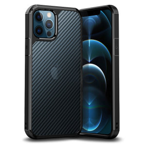 The ExoShield Carbon bumper case works with Apple MagSafe chargers, and provides a slim fitting stylish design, featuring reinforced shock protection. With a semi-transparent back to showcase your iPhone 12 Pro Max through a premium carbon fibre overlay.