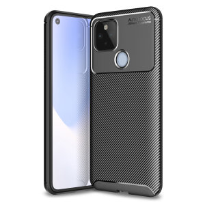 Flexible rugged casing with a premium matte finish non-slip carbon fibre and brushed metal design, the Olixar case in black keeps your Google Pixel 4a 5G protected.
