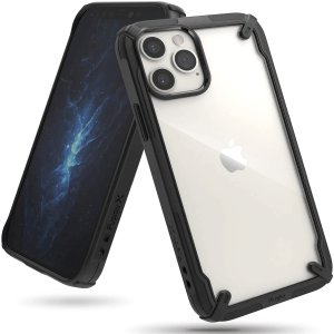 Keep your iPhone 12 Pro Max protected from bumps & drops with the Rearth Ringke X Design tough case in Black. Featuring a 2-part, Polycarbonate design, this case lives up to military drop-test standards whilst being incredibly stylish