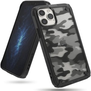 Keep your iPhone 12 Pro Max protected from bumps & drops with the Rearth Ringke X Design tough case in Camo Black. Featuring a 2-part, Polycarbonate design, this case lives up to military drop-test standards whilst being incredibly stylish