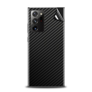 Olixar Samsung Galaxy Note 20 Ultra Phone Skin - Black Carbon Fibre