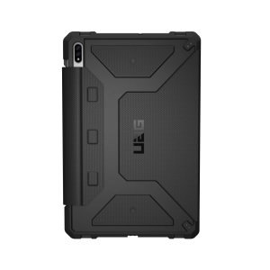 Equip your Samsung Galaxy Tab S7 Plus with extreme, military-grade protection with the Metropolis Flip case in black from UAG. Impact and water resistant, this is the ideal way of protecting your Tab S7 Plus and comes with an S-pen holder