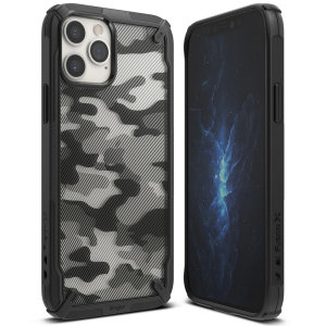 Keep your iPhone 12 Pro protected from bumps & drops with the Rearth Ringke X Design tough case in Camo Black. Featuring a 2-part, Polycarbonate design, this case lives up to military drop-test standards whilst being incredibly stylish