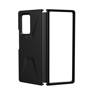 The UAG Civilian Case in Black for the Samsung Galaxy Z Fold 2 5G features a classic tough-looking, composite design with a soft impact-absorbing core & hard exterior that provides superb protection in all situations. Compatible with wireless charging.