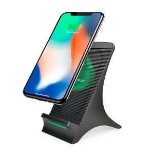 Olixar 10W Wireless Slim Charging Stand With Cooling Fan - Black