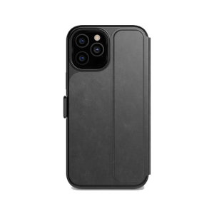 This iPhone 12 Pro Max case from Tech 21 has a beautiful black folding design, which features a secure magnetic closure to protect your phone from all angles. Inside, there are 2 slots to store your credit cards and ID safely.