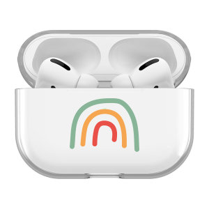 Want to keep your AirPod Pros safe, whilst also looking cute? This rainbow case by LoveCases allows you to do both. Its simplistic, yet stunning design protects your AirPod Pros from lifes little accidents and keeps them safe till you need them again.