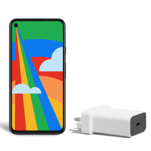 Official Google Pixel 5 18W PD USB-C Wall Charger - UK plug - White