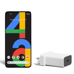 Official Google Pixel 4a 18W PD USB-C Wall Charger - UK plug - White