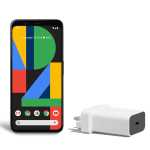 Official Google Pixel 4 XL 18W PD USB-C Wall Charger - UK plug White