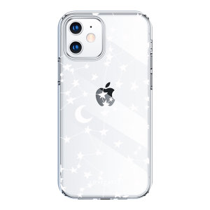 LoveCases iPhone 12 Gel Case - White Stars & Moons