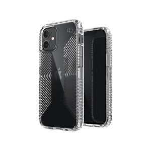 The Presidio Perfect-Clear Grip is a stylish iPhone 12 case that provides premium protection against drops and scratches. This case is lightweight and slim making it convenient, as well as sophisticated with easy grip to help avoid any unwanted slips!