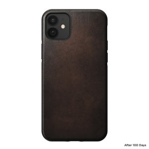 Nomad iPhone 12 Rugged Protective Leather Case - Rustic Brown